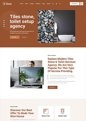 大气的洗浴设计装修公司官网html5模板