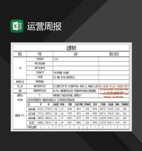 淘宝旗舰店运营周报详解Excel模板