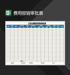 招待费、差旅费报销审批表Excel模板