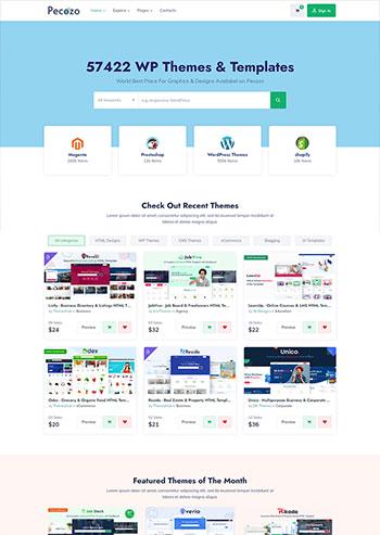 素材广告图片分享平台静态HTML模板