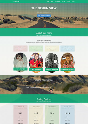 绿色企业邮箱销售单页面网站HTML5模板