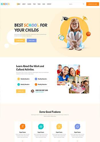 幼儿园教育培训机构HTML网页模板