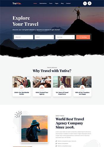 html5旅游旅行社官网模板