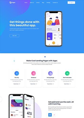 手机app应用软件官网HTML5模板