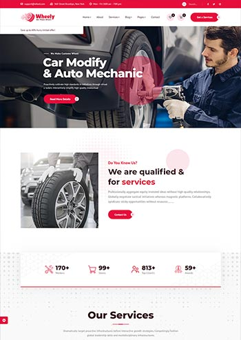 品牌轮胎销售企业官网HTML模板