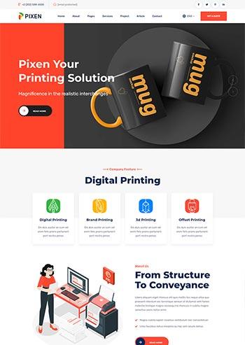 平面广告印刷设计公司HTML5模板