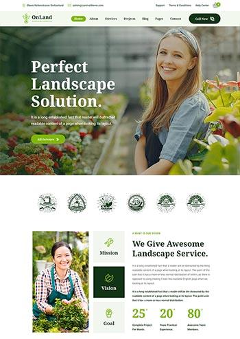 绿色的园林种植公司网页模板