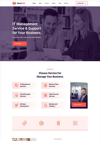 IT软件解决方案公司网页模板