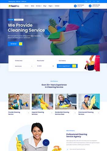 多用途的保洁家政公司官网html5模板