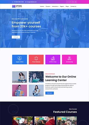 大学在线课程网站HTML模板