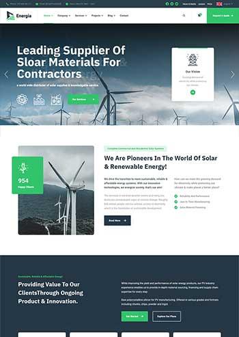 大气的新能源企业官网html5模板