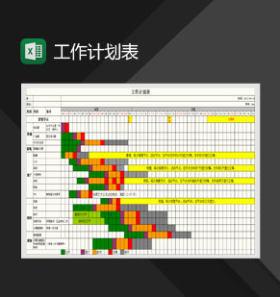 认筹前工作计划表Excel模板