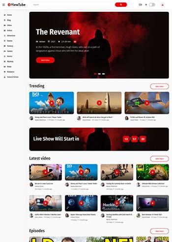 社交媒体电影视频HTML5模板