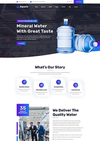 饮用水送货服务公司网站HTML模板