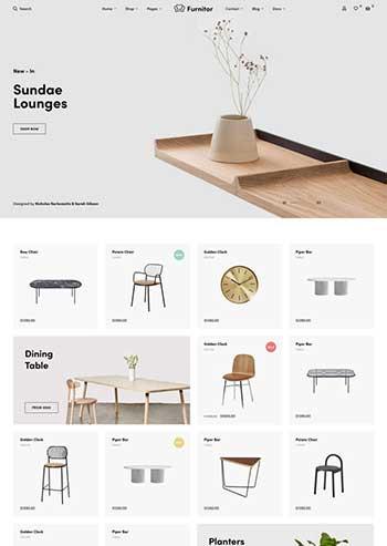 简约的家具商店HTML响应式模板