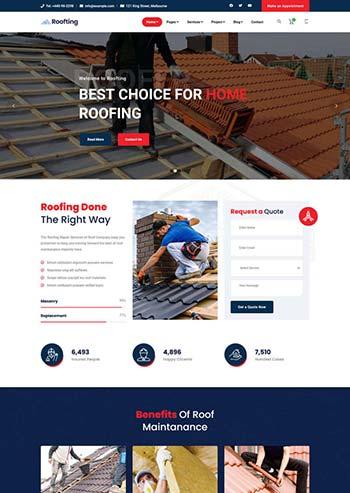 响应式的房屋建筑工程企业html模板