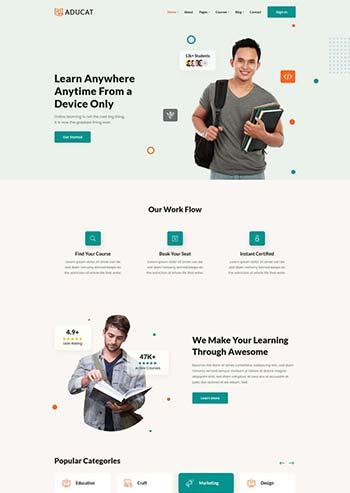 响应式在线课程教育网页模板