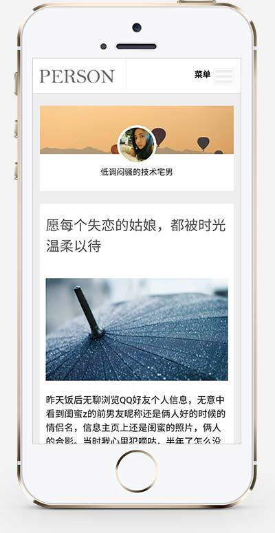 响应式个人随笔博客织梦模板 心情日记个人博客网站模板下载(自适应手机版)