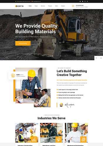 响应式的建筑工业官网html模板