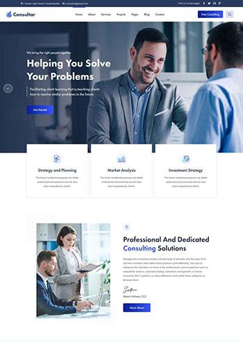 商业咨询解决方案HTML5网站模板