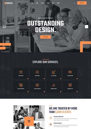 seo营销网络公司HTML5模板