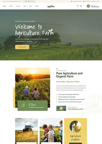 有机生态农业官网HTML模板