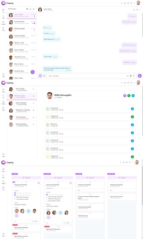 web网页聊天功能页面模板(响应式模板)
