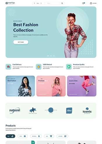 多用途的女性服装电商HTML模板