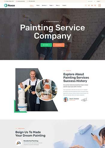 涂料油漆厂家网站响应式模板
