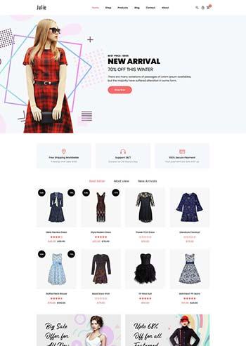 简洁的时尚女装bootstrap电商模板