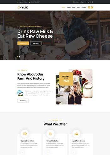 牛奶制品生产企业HTML5模板