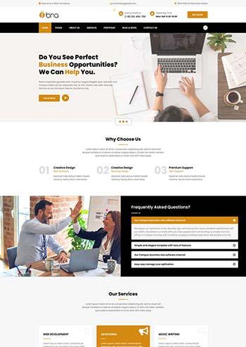 多用途的商务企业展示HTML模板